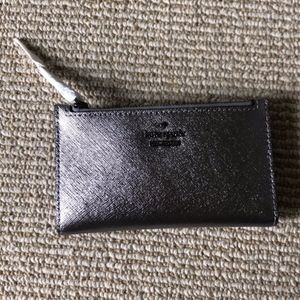 NWT Kate Spade Mikey Cameron street wallet silver